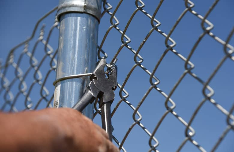 Armour Contracting installs chain link fencing for residential and commercial use